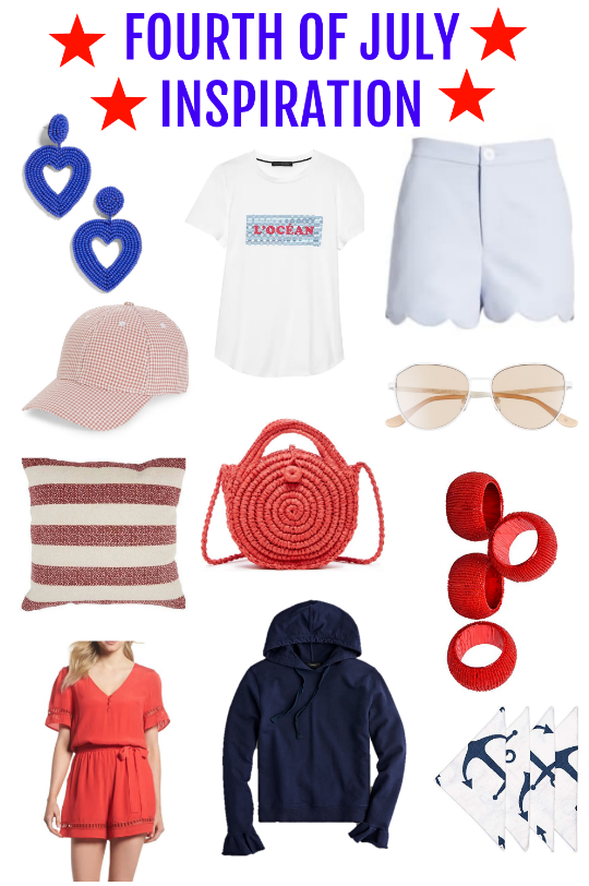 Fourth of July, what to wear for the 4th, home decor for the fourth of july