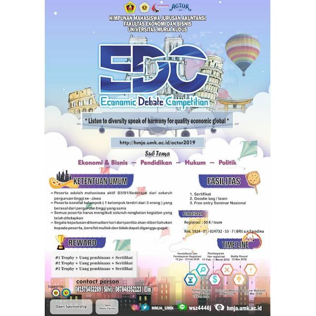 Lomba Debat Se-Jawa EDC 2019 Mahasiswa