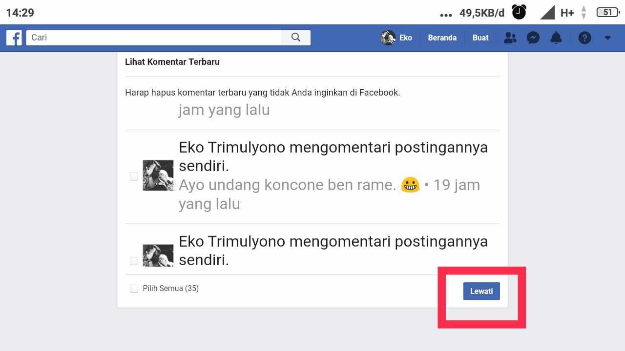 cara melihat permintaan pertemanan terkirim di fb seluler