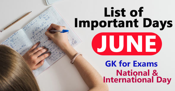 Important Days in June of India and World's 2021