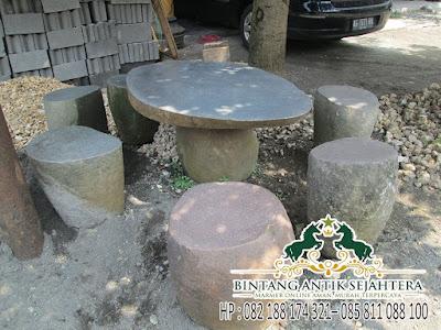 Meja Taman Batu Alam, Meja Taman Batu Kali