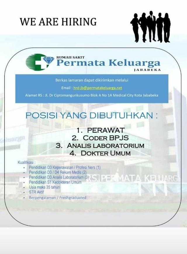 Loker Dokter RS Permata Kota Jababeka