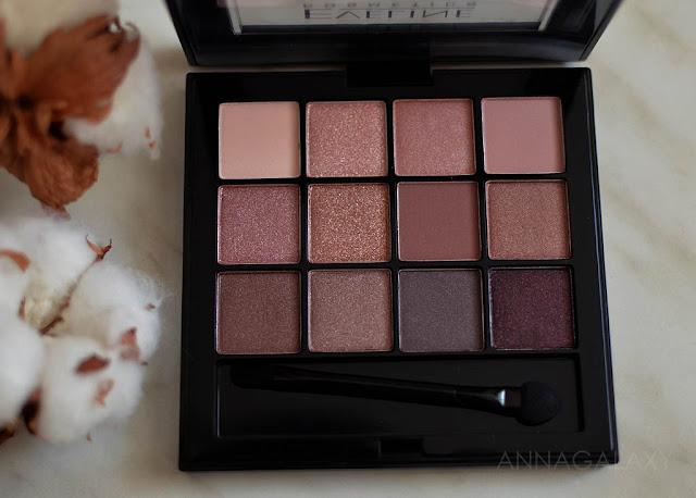 Розово-коричневая гамма Eveline cosmetics палетки теней All in One Rose