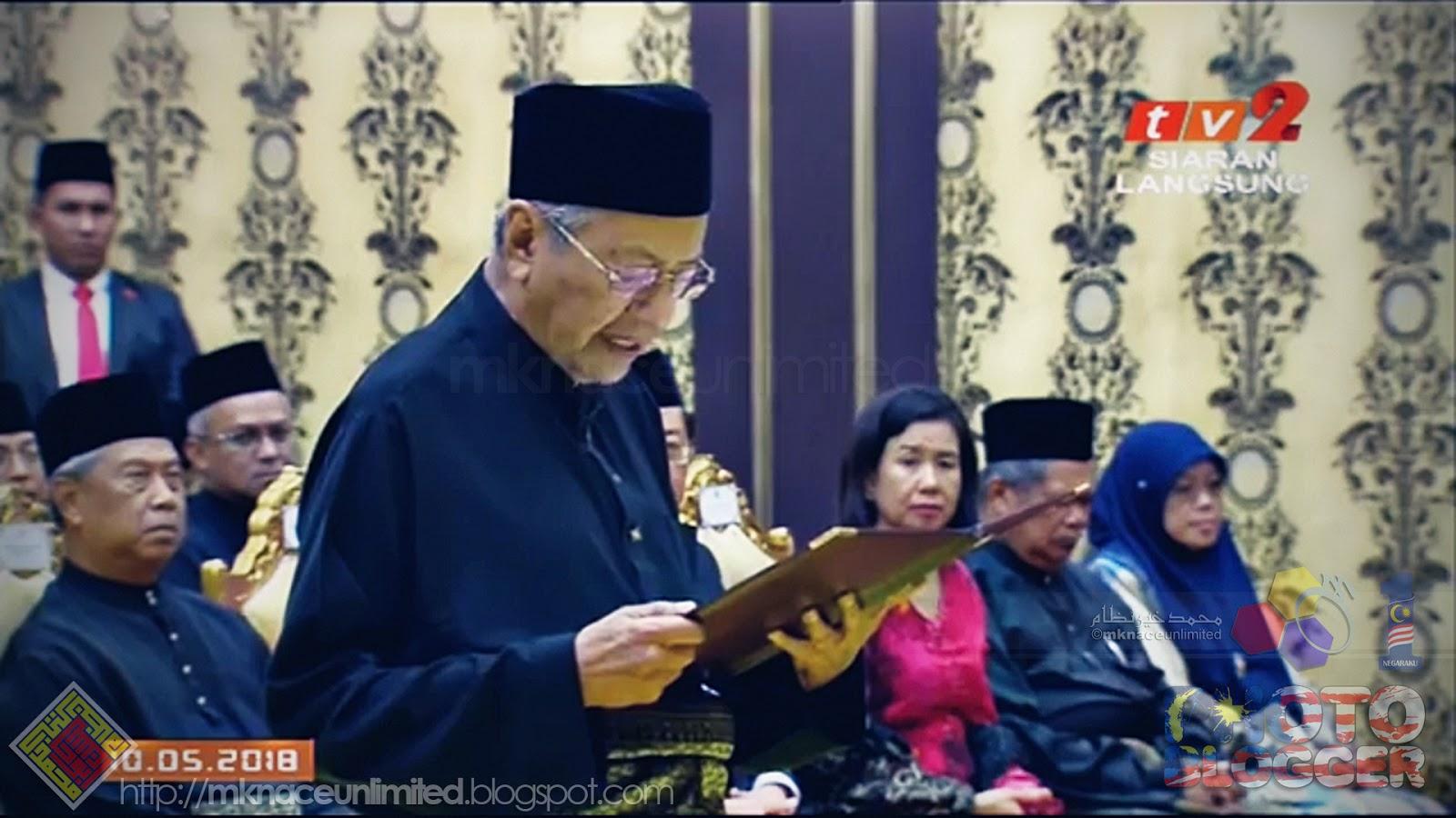 Tun Dr Mahathir Angkat Sumpah Perdana Menteri Malaysia Ketujuh Tcash Vaganza 32 Milo Activ Go Mknace Unlimited The Colours Of Life