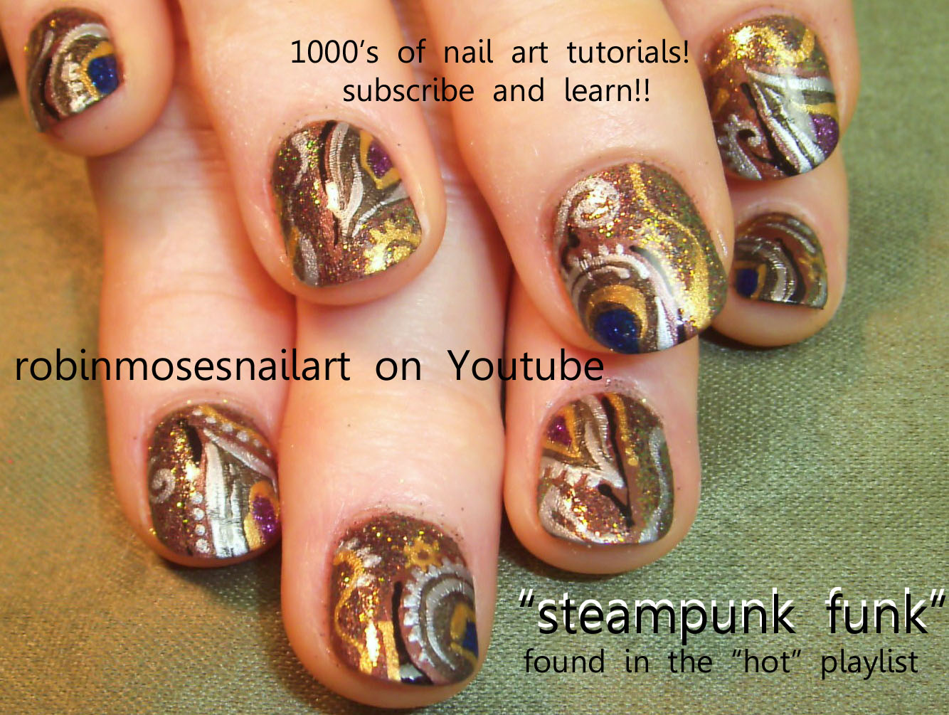 Steampunk nail art steam punk nail robin moses abstract steampunk nail art steam punk nail robin moses abstract steampunk clockwork nail clock gear on nails gears cogs nail steampunk floral steampunk prinsesfo Gallery