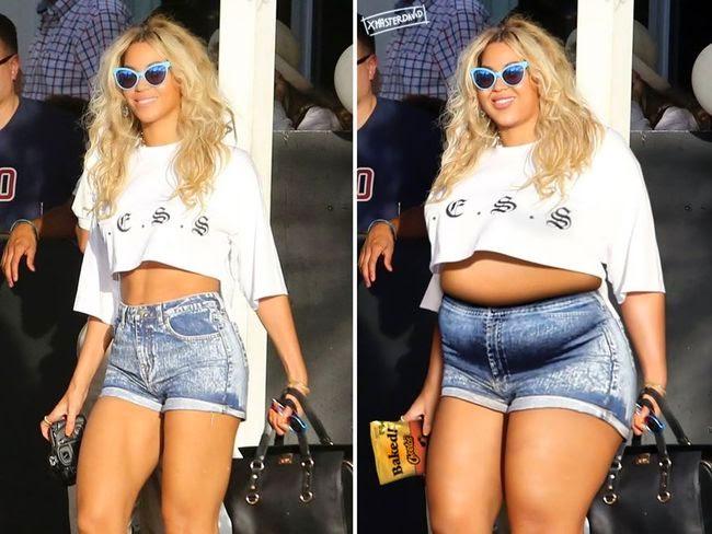 Beyoncé gorda fotomontaje