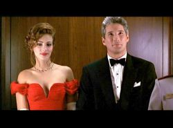 julia roberts, red dress, pretty woman, richard gere