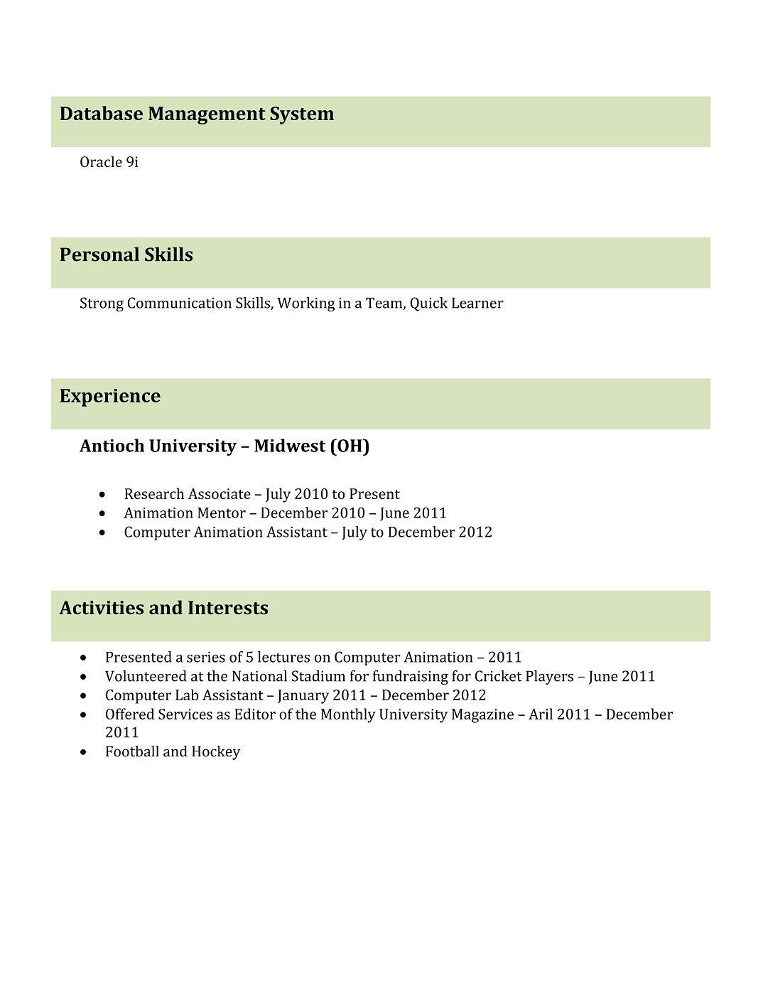 Resume Format For Job Interview For Freshers Best Professional Resume Templates