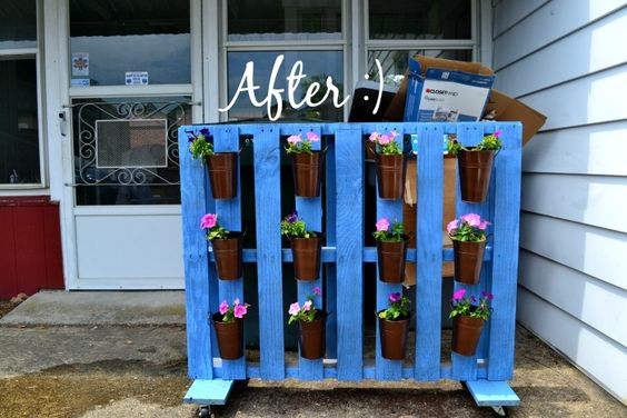 Hide Your AC Unit This Summer With A Pallet Planter Privacy Screen On Wheels- DIY Tutorial By TheBohoAbode