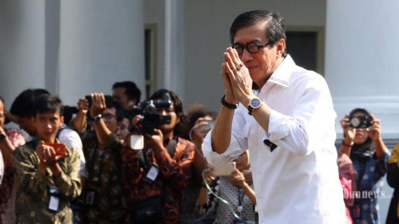 Yasonna Mundur dari DPR RI atas Perimintaan Jokowi jadi Menkumham Kembali
