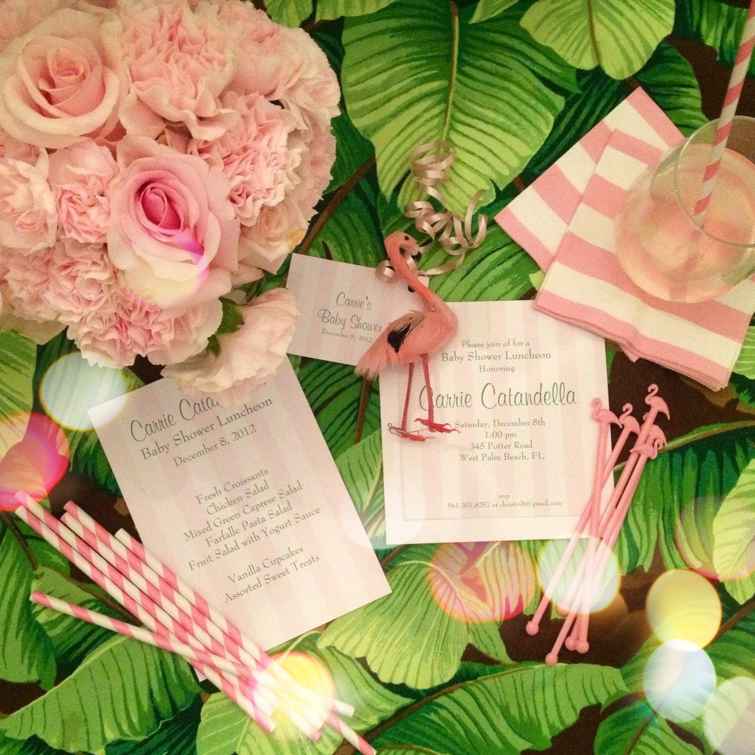 Palm Beach Chic In Miami: Luxe Report: Luxe Entertaining: Palm Beach Chic Baby Shower