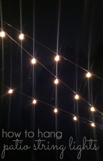 How to Hang Patio String Lights | Blue i Style - Creating an ... Rope Lighting Bar Ideas Html on bar signs, bar pendants, bar neon, bar cabinet lighting, bar accessories, bar lamps, bar chandeliers, bar lighting fixtures, bar granite countertops,