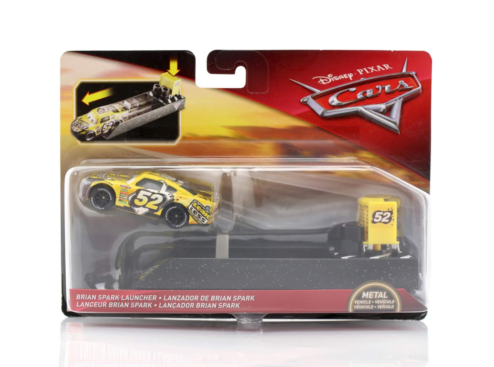 Cars 3 Brian Spark (with Launcher) diecast