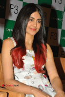 Bollywood Actress Adah Sharma Pos in White Printed Short Dress at OPPO F3 Plus Selfie Expert Mobile Launch .COM 0005.jpg