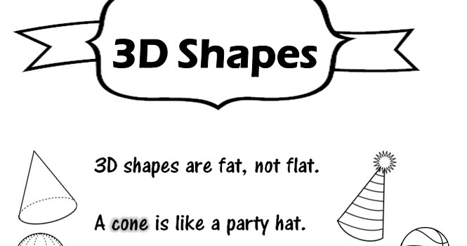 Enjoy Teaching English: 3D SHAPES ( poem + worksheet)