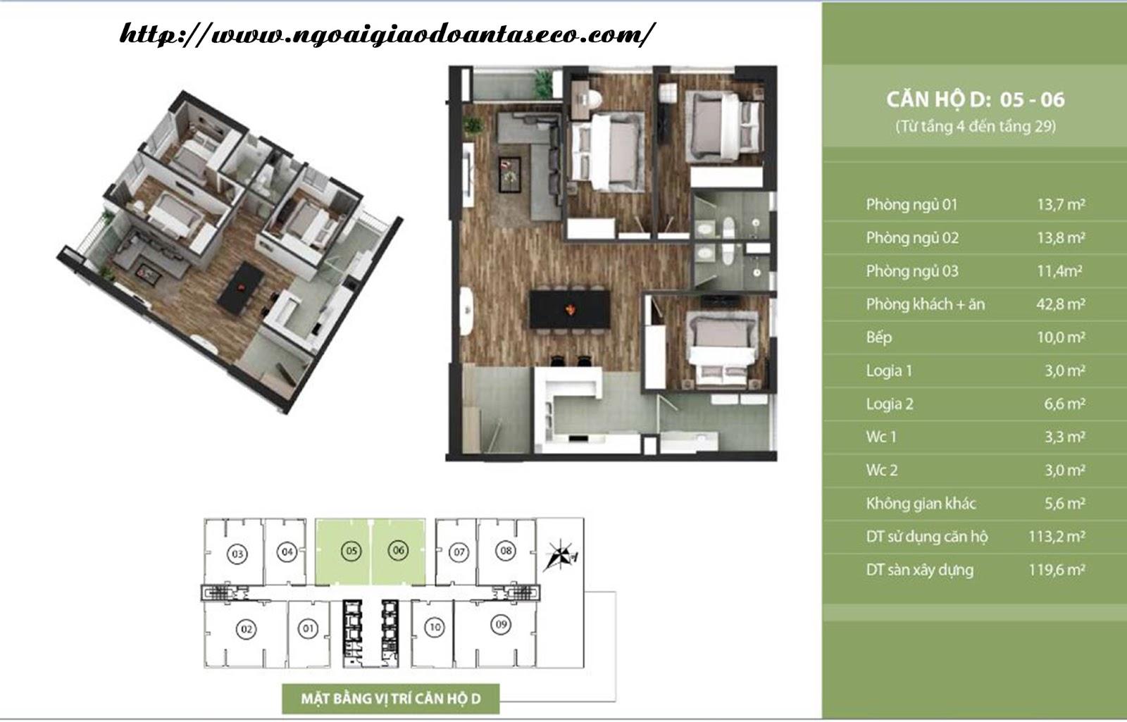 Bán lại căn hộ 806 - Chung cư Taseco Complex