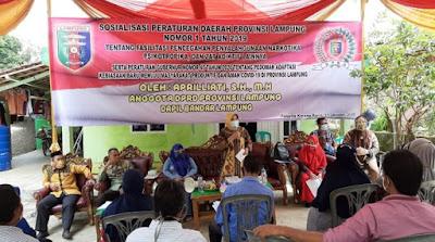 Aprilliati Sosialisasikan Peraturan Daerah Tentang Narkotika, Psikotropika dan Zat Adiktif Lainnya di Provinsi Lampung
