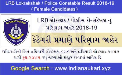 Lokrakshak Recruitment Board (LRB) famele Result for the post of Constable / Lokrakshak,Board 2020.