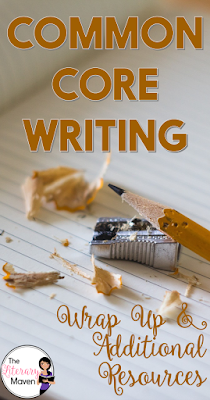 A top ten list of things you need to know about teaching using the writing standards of the Common Core as well as resources such as text exemplars for writing analysis and samples of student writing.