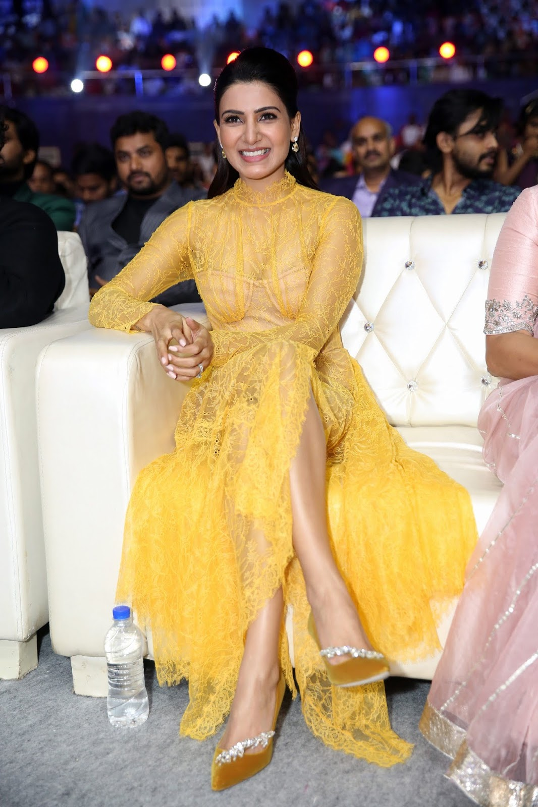 Samantha Hot Transparent Dress at Zee Cine Awards