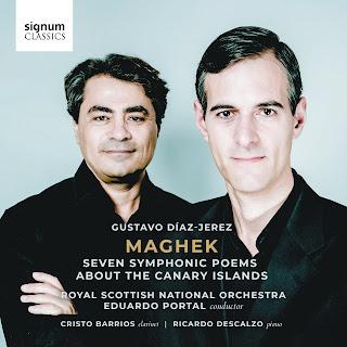 Gustavo Díaz-Jerez Maghek; Cristo Barrios, Ricardo Descalzo, Royal Scottish National Orchestra, Eduardo Portal; Signum Classics