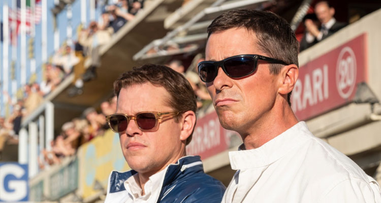 Christian Bale y Matt Damon en Lemans 66