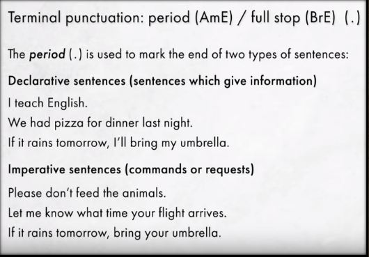 Boost your English Punctuation- Full stop uses and examples By Mr.Zaki Badr