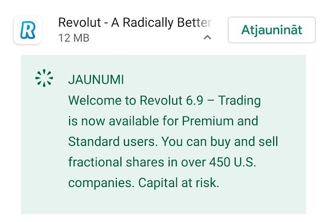 Revolut piedāvā iespēju bez maksas (gandrīz) investēt ASV akcijās