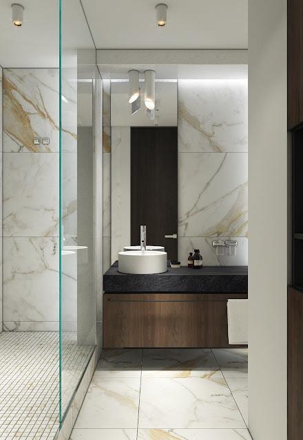 Bathroom 3d Tiles Design