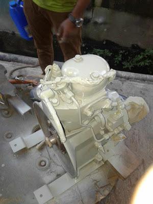 Primer coat on Paguro P4000 generator