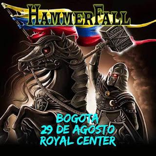 Concierto de HAMMERFALL en  Bogotá