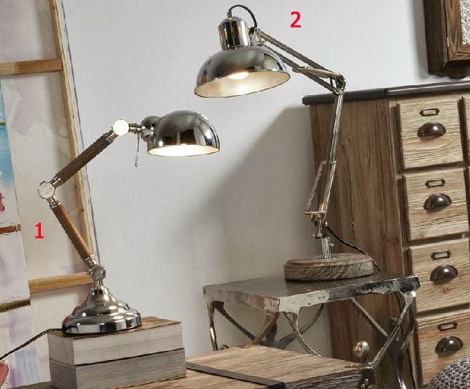 lampara mesa, lampara articulada, lampara 2 modelos