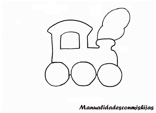 Plantilla template tren manualidad Dia del padre