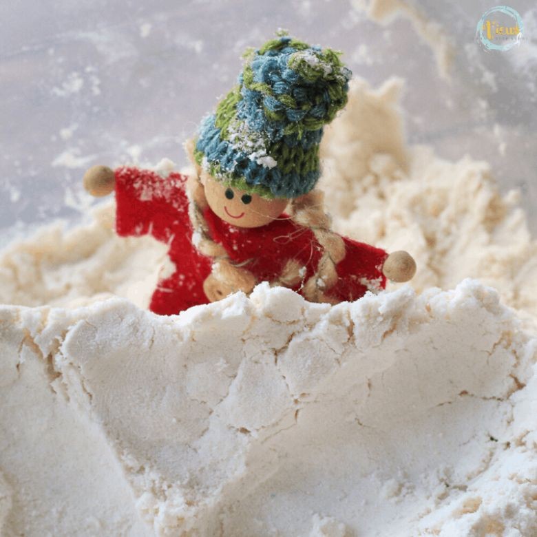 edible fake snow winter activity for kids