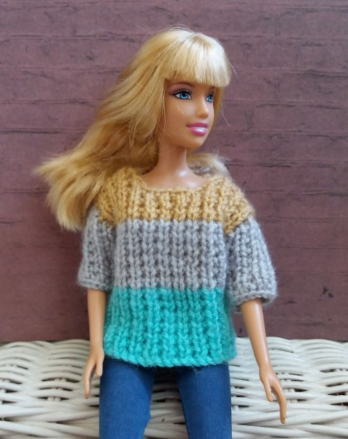Barbie Ribbed Sweater - Free Pattern