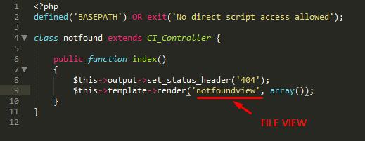 Tutorial CodeIgniter 3 : Mengganti Tampilan Halaman Error 404 Page Not Found Di CodeIgniter