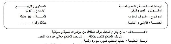 جذاذات الوحدة السادسة الجديد في اللغة العربية للمستوى الرابع ابتدائي 2021