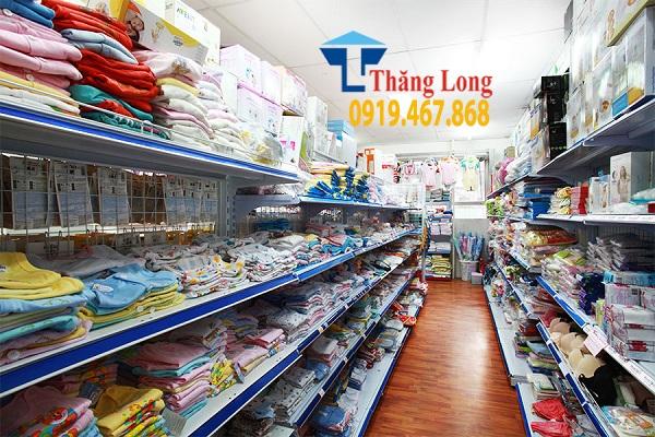Tư vấn lắp đặt giá kệ cho cửa hàng mẹ và bé