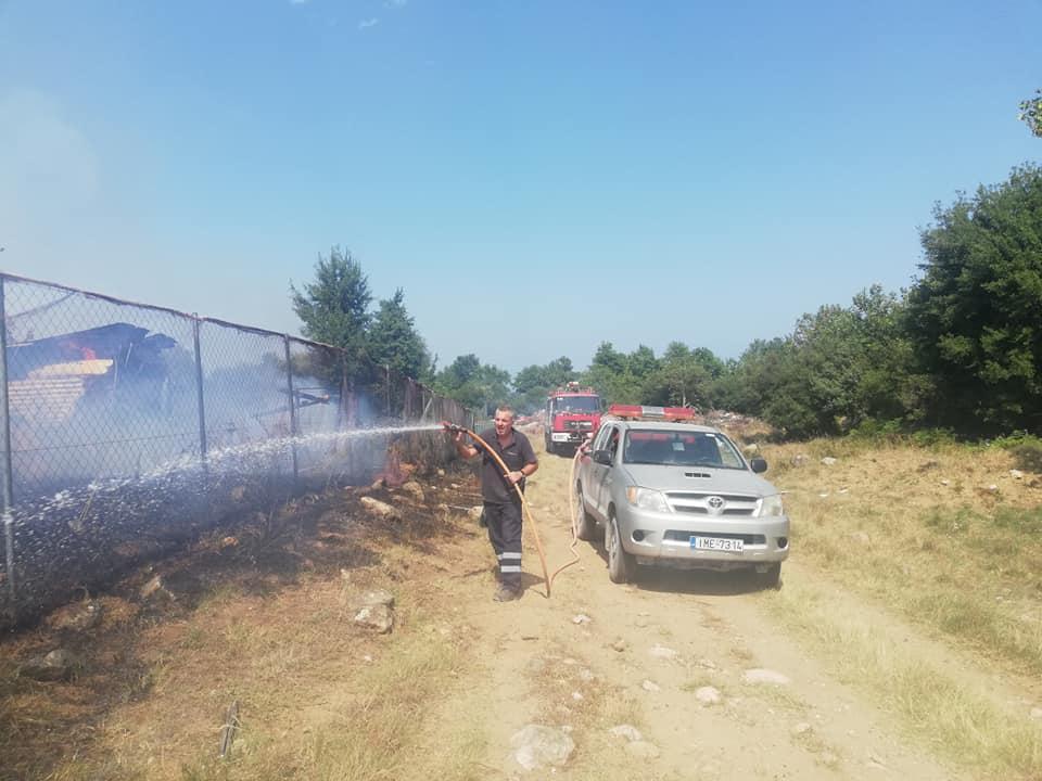Κατασβέστηκε η φωτιά που ξέσπασε στην Ολυμπιάδα Χαλκιδικής (Φώτο)