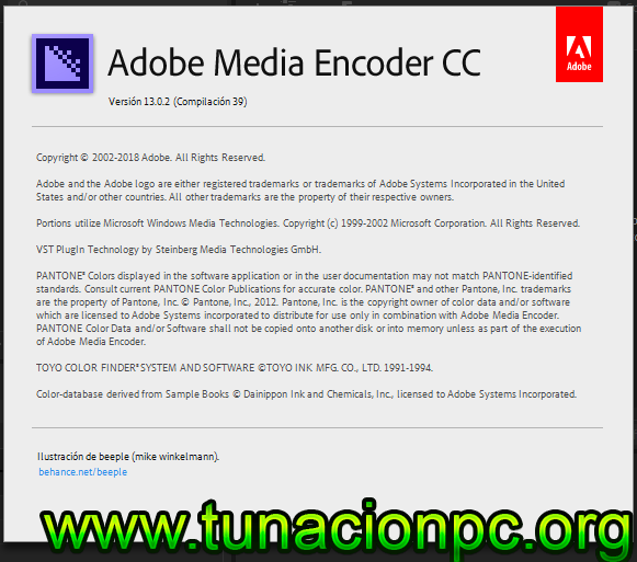 Adobe Media Encoder CC 2019 Multilenguaje