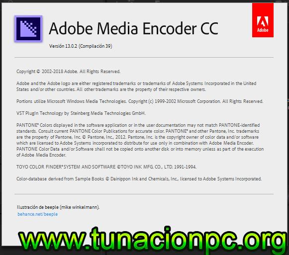 Adobe Media Encoder CC 2019 Multilenguaje