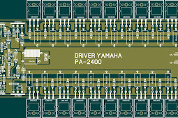 Driver Lapangan Layout PCB Power Yamaha PA 2400