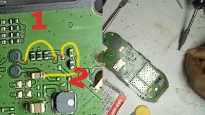 Nokia 1280 Lampu LCD Gelap