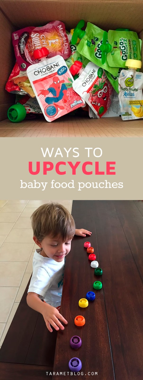 5 Amazing Ways to Re-use Baby Food pouches & caps