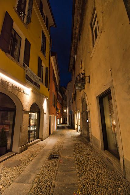 Brukowane uliczki Locarno