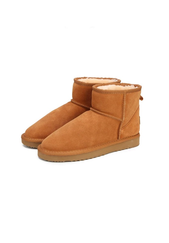 UGG Women Snow Booties 100% Genuine Cowhide Leather Ankle Boots Warm
