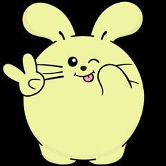Download Sticker Facebook Lucu Fat Rabbit