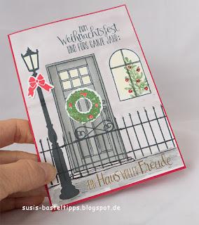 Karte mit stempelset weihnachten im lichterschein, wie zu hause, lovely as a tree, vorfreude von stampin up demonstratorin in coburg susis basteltipps