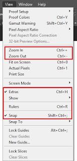 fungsi tool  photoshop cs6-menu view