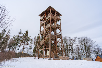 Wieża widokowa pod Dzikowcem od południowego wschodu